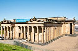 Exterior of the Scottish National Gallery, art museum , on The Mound in Edinburgh, Scotland, United Kingdom, UK.
