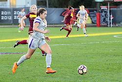 04 November 2016:  Montana Portenier(13) during an NCAA Missouri Valley Conference (MVC) Championship series women's semi-final soccer game between the Loyola Ramblers and the Evansville Purple Aces on Adelaide Street Field in Normal IL