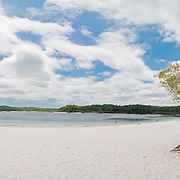 Lake McKenzie, fresh water lake on Fraser Island, Queensland, Fraser Island is a national park.