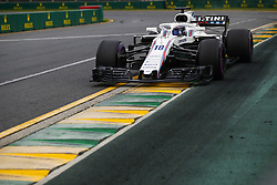 March 24, 2018 - Melbourne, Victoria, Australia - 18 STROLL Lance (can), Williams F1 Mercedes FW41, action during 2018 Formula 1 championship at Melbourne, Australian Grand Prix, from March 22 To 25 - s: FIA Formula One World Championship 2018, Melbourne, Victoria : Motorsports: Formula 1 2018 Rolex  Australian Grand Prix, (Credit Image: © Hoch Zwei via ZUMA Wire)