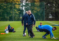 Tomaz Kavcic - headcoach during practice session of Slovenian national football team, on October 8, 2018 in National Football Center Brdo, Kranj, Slovenia. Photo by Urban Meglic / Sportida