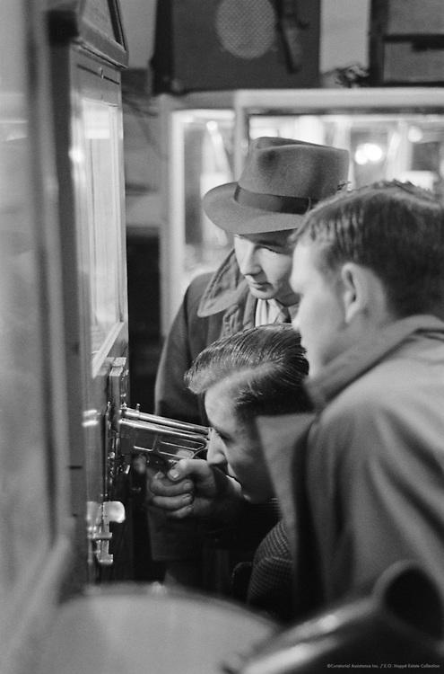 Shoppers, Men Playing Shooting Game, London, 1935