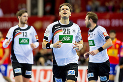 31.01.2016, Tauron Arena, Krakau, POL, EHF Euro 2016, Deutschland vs Spanien, Finale, im Bild Hendrik Pekeler (Nr 13, Rhein-Neckar Loewen), Kai Haefner (Nr 25, TSV Hannover-Burgdorf), Steffen Faeth (Nr 23, HSG Wetzlar) // during the 2016 EHF Euro final match between Germany and Spain at the Tauron Arena in Krakau, Poland on 2016/01/31. EXPA Pictures &copy; 2016, PhotoCredit: EXPA/ Eibner-Pressefoto/ Koenig<br /> <br /> *****ATTENTION - OUT of GER*****