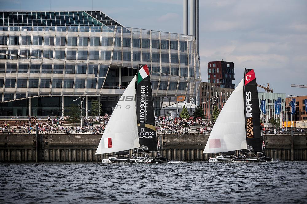 2015 Extreme Sailing Series - Act 5 - Hamburg<br /> ESS Fleet<br /> Credit Jesus Renado