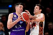 ILCE-9M2 • FE 400mm F2.8 GM OSS<br /> f/3.5 • ISO 3200 • 1/1250<br /> <br /> Scola Luis <br /> A|X Armani Exchange Milano - Umana Reyer Venezia <br /> LBA Final Eight 2020 Zurich Connect - Semifinale<br /> Basket Serie A LBA 2019/2020<br /> Pesaro, Italia - 15 February 2020<br /> Foto Mattia Ozbot / CiamilloCastoria