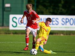 NEWPORT, WALES - Wednesday, July 25, 2018: Zak Williams and Zak Jones during the Welsh Football Trust Cymru Cup 2018 at Dragon Park. (Pic by Paul Greenwood/Propaganda)
