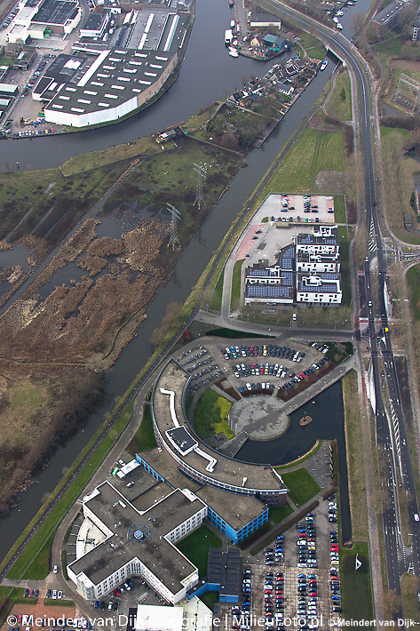 Friese Poort, Caleidoscoop en Schilkamen naast Nieuwe Kanaal, Leeuwarden