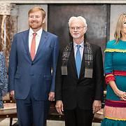 NLD/Amsterdam/20191128 - Koning Willem-Alexander reikt Erasmusprijs 2019 uit, Prinses Beatrix, Koning Willem Alexander met Koningin Maxima en Amerikaanse componist en dirigent John Adams