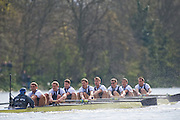 Putney, GREAT BRITAIN,  Oxford  right to left, Bow, Michal PLOTKOWIAK, Colin SMITH, Alex HEARNE, Ben HARRISON, Sjoerd HAMBURGER, Tom SOLESBURY, George BRIDGEWATER, Ante KUSURIN and cox Colin GROSHONG. .  during the  2009 Boat Race,  Rowing 'Championship Course' Putney to Mortlake, on the River Thames, Sun.29.03.2009. [Mandatory Credit, Peter Spurrier / Intersport-images] Rowing Course: River Thames, Championship course, Putney to Mortlake 4.25 Miles,
