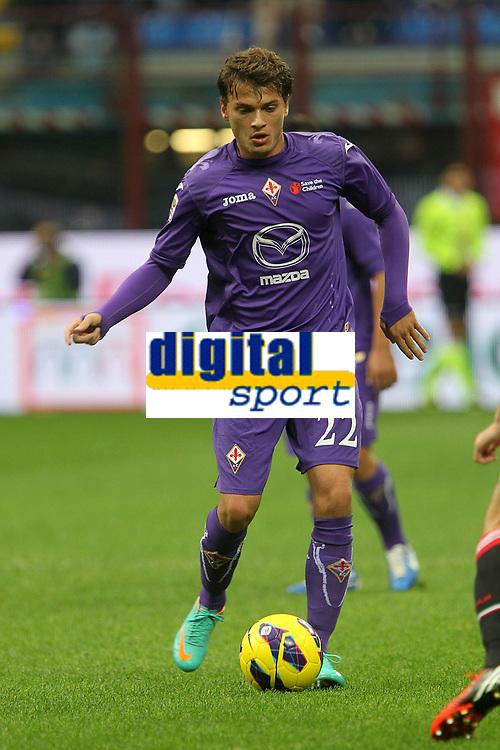 """Adam Ljajic Fiorentina<br /> Milano 10/11/2012 Stadio """"San Siro""""<br /> Football Calcio Serie A 2012/13<br /> Milan v Fiorentina<br /> Foto Insidefoto Paolo Nucci"""