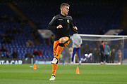 Pontus Wernbloom of PAOK FC (19) warming up during the Champions League group stage match between Chelsea and PAOK Salonica at Stamford Bridge, London, England on 29 November 2018.