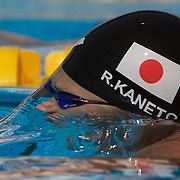 Rie Kaneto, Japan, in action during the Women's 200m Breaststroke heats at the World Swimming Championships in Rome on Thursday, July 30, 2009. Photo Tim Clayton.