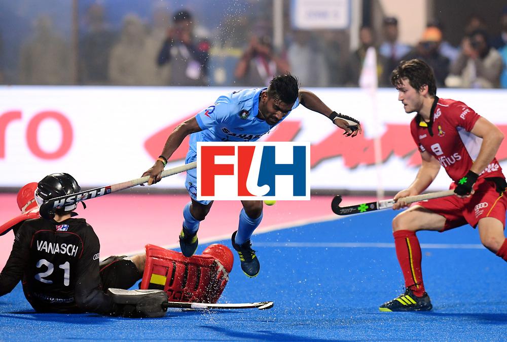 Odisha Men's Hockey World League Final Bhubaneswar 2017<br /> Match id:13<br /> Belgium v India<br /> Foto: keeper Vincent Vanasch (Bel) , Sumit (Ind) <br /> COPYRIGHT WORLDSPORTPICS FRANK UIJLENBROEK