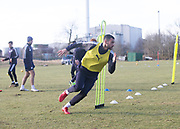 Steven Caulker of Dundee - Dundee FC training , Picture by David Young -