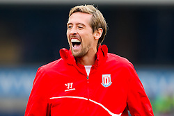 Stoke City's Peter Crouch looking relaxed during the warm up -  Photo mandatory by-line: Matt McNulty/JMP - Mobile: 07966 386802 - 14/02/2015 - SPORT - Football - Blackburn - Ewood Park - Blackburn Rovers v Stoke City - FA Cup - Fifth Round