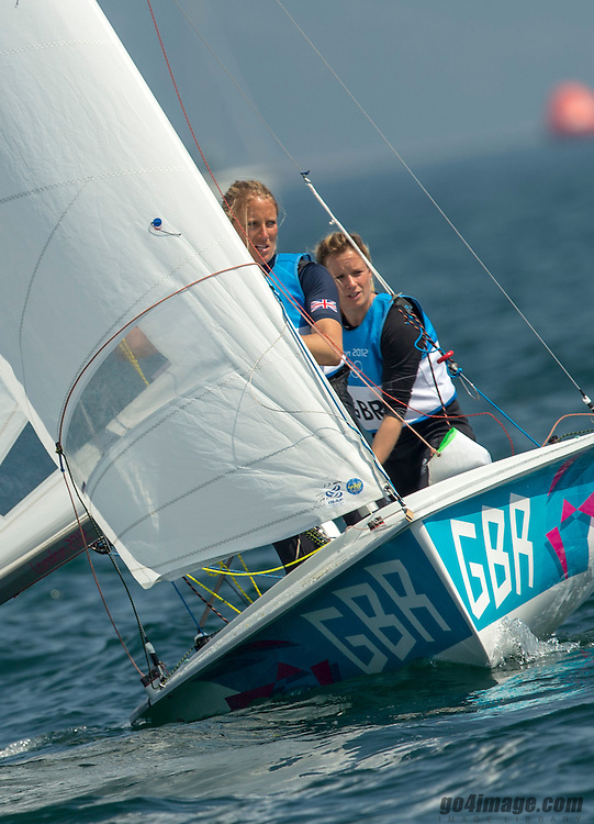SILVER:<br /> Clark Saskia, Mills Hannah, (GBR, 470 Women)<br /> 2012 Olympic Games <br /> London / Weymouth