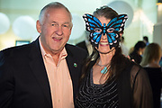 "Abita Springs Mayor Greg Lemons and Patricia Stout, Executive Director of The Women's Center for Healing and Transformation ""An Evening of Masquerade"" fifth annual fundraising gala at the Castine Center in Mandeville, Louisiana on March 31, 2017"
