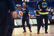 Odyssey Sims of the Dallas Wings warms up before tipoff against the Connecticut Sun during a WNBA preseason game in Arlington, Texas on May 8, 2016.  (Cooper Neill for The New York Times)