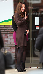Catherine, Duchess of Cambridge visits The Fostering Network at the Children's Services in London, UK. 16/01/2015<br />