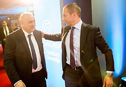 Radenko Mijatovic, president of NZS and Aleksander Ceferin, president of UEFA during Traditional New Year party of of the Slovenian Football Association - NZS, on December 20, 2018 in Gospodarsko razstavisce, Ljubljana, Slovenia. Photo by Vid Ponikvar / Sportida