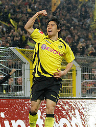12.11.2010, Signal Iduna Park, Dortmund, GER, 1.FBL,  Borussia Dortmund vs Hamburger SV, im Bild: Shinji Kagawa (Dortmund JPN #23) jubelt nach seinem 1:0 Tor, EXPA Pictures © 2010, PhotoCredit: EXPA/ nph/  Scholz+++++ ATTENTION - OUT OF GER +++++
