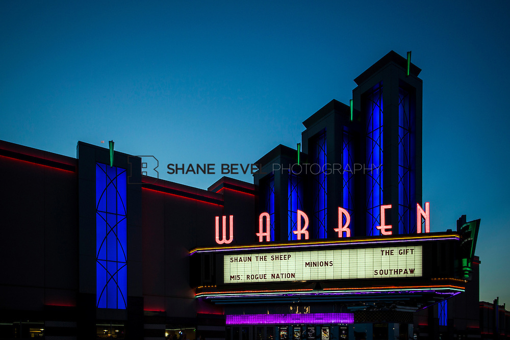 8/10/15 8:29:21 PM --  Exterior photos of the Warren Theatre in Broken Arrow, Oklahoma. <br /> <br /> Photo by Shane Bevel