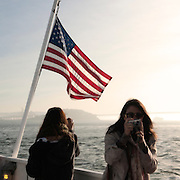 Tourists on San Francisco Bay, California.
