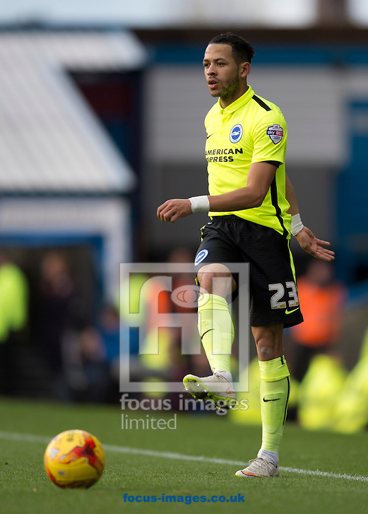 Liam Rosenior of Brighton and Hove Albion during the Sky Bet Championship match at Turf Moor, Burnley<br /> Picture by Russell Hart/Focus Images Ltd 07791 688 420<br /> 22/11/2015