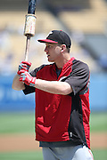 LOS ANGELES, CA - JULY 28:  Todd Frazier #21 of the Cincinnati Reds takes batting practice before the game against the Los Angeles Dodgers on Sunday, July 28, 2013 at Dodger Stadium in Los Angeles, California. The Dodgers won the game in a 1-0 shutout. (Photo by Paul Spinelli/MLB Photos via Getty Images) *** Local Caption *** Todd Frazier
