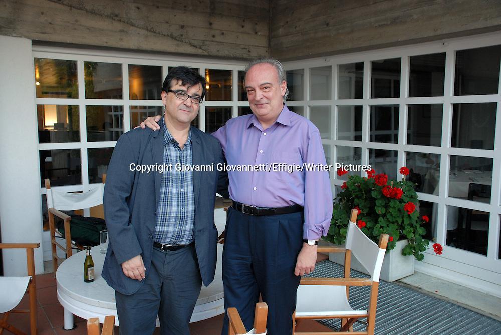 Da sinistra: Javier e Vila-Matas Enrique, 2010.<br /> <br /> 04/09/2010<br /> Copyright Giovanni Giovannetti/Effigie/Writer Pictures<br /> NO ITALY, NO AGENCY SALES