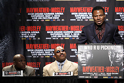Mar 2, 2010; New York, NY, USA; Shane Mosley at the press conference announcing his May 1, 2010 fight against Floyd Mayweather.  The two fighters will meet at the MGM Grand Garden Arena.