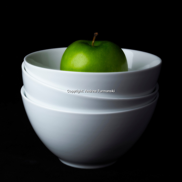 Green Apple in Bowl