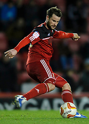 Bristol City Defender Matthew Bates (ENG) in action during the second half of the match - Photo mandatory by-line: Rogan Thomson/JMP - Tel: Mobile: 07966 386802 01/12/2012 - SPORT - FOOTBALL - Ashton Gate - Bristol. Bristol City v Wolverhampton Wanderers - npower Championship.