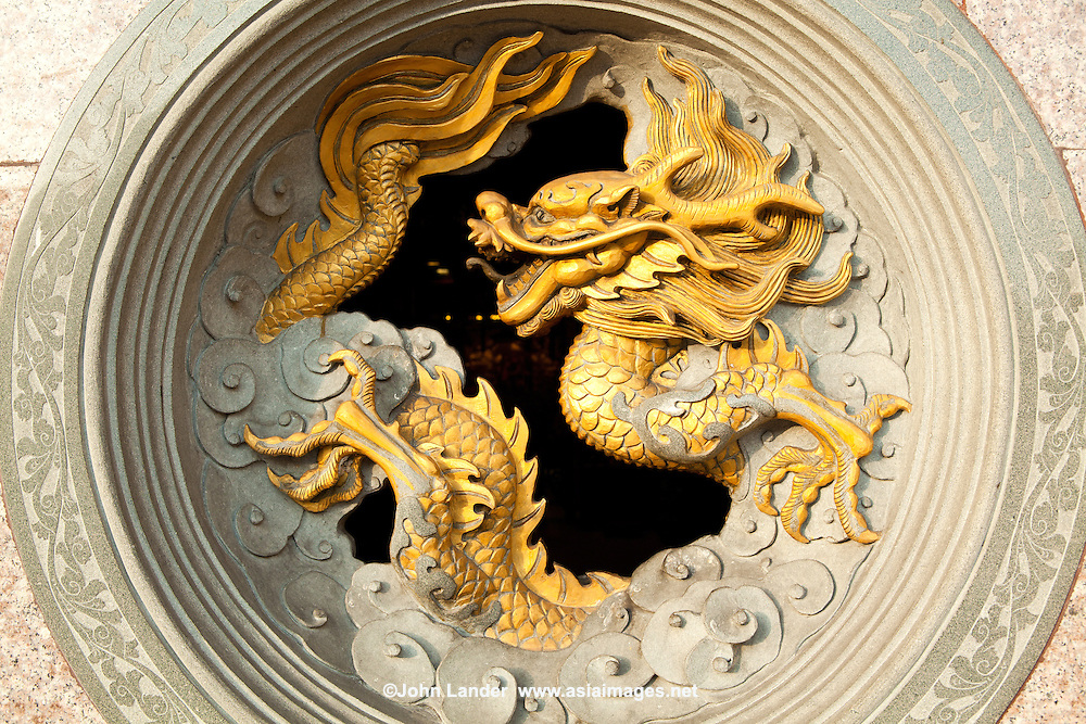Chinese dragons are mythical creatures in mythology and folklore. In Chinese art they are portrayed as serpentine creatures with four legs. A dragon is yang and complements a Chinese phoenix.<br />