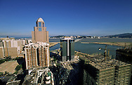 Nam Van lake -  project on new reclaimed land will change the face of Macau  ///  nouveau Projet immobilier ;  - Nam van lakeî qui va fermer la baie de Macao /// R00228/9    L3106  /  R00228  /  P0006552