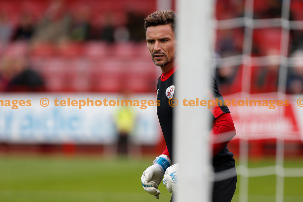 Crawley&rsquo;s new Keeper Darryl Flahavan seen during the Sky Bet League 2 match between Crawley Town and Luton Town at the Checkatrade.com Stadium in Crawley. October 17, 2015.<br /> James Boardman / Telephoto Images<br /> +44 7967 642437