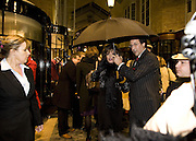 JOAN COLLINS AND PERCY GIBSON,  Joan Collins Turns On Burlington Arcade Christmas Lights, PICCADILLY, LONDON - NOVEMBER 20 2007. -DO NOT ARCHIVE-© Copyright Photograph by Dafydd Jones. 248 Clapham Rd. London SW9 0PZ. Tel 0207 820 0771. www.dafjones.com.