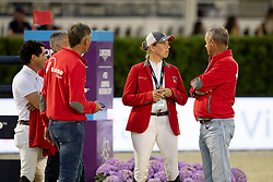 Philippaertsd Nicola, BELSchnieper Barbara, Fuchs Thomas<br /> Longines FEI Jumping Nations Cup™ Final<br /> Barcelona 20128<br /> © Hippo Foto - Dirk Caremans<br /> 05/10/2018
