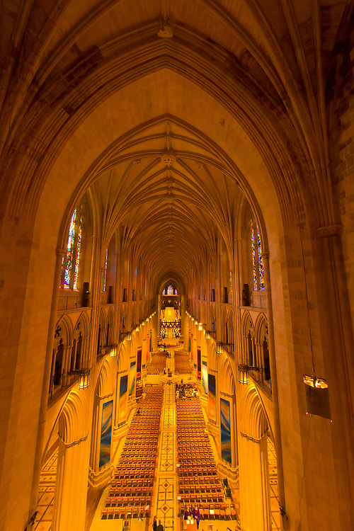 Interior view, Washington National Cathedral, Washington D.C., U.S.A.