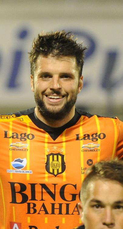 CAMPEONATO ARGENTINO Soccer / Football. <br /> OLIMPO DE BAHIA BLANCA Portraits <br /> Here Olimpo de Bahia Blanca player Ezequiel Viola<br /> Bs.As. Argentina. - Oct 14, 2015<br /> &copy; PikoPress