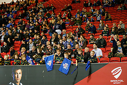 Bristol Rugby fans look subdued after their side los ethe game - Mandatory byline: Rogan Thomson/JMP - 06/11/2015 - RUGBY UNION - Ashton Gate Stadium - Bristol, England - Bristol Rugby v Doncaster Knights - Greene King IPA Championship.