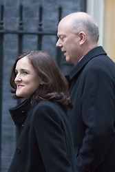 Downing Street, London, February 9th 2016.  Northern Ireland Secretary Theresa Villiers and Leader of the House of Commons Chris Grayling arrive in Downing Street for the weekly cabinet meeting. ///FOR LICENCING CONTACT: paul@pauldaveycreative.co.uk TEL:+44 (0) 7966 016 296 or +44 (0) 20 8969 6875. ©2015 Paul R Davey. All rights reserved.