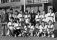 Kilkenny College Vs Kings Hospital in the Leinster Schools Senior Cup in Grange Road, Kings Hospital Hockey Team, 11/03/1987 (Part of the independent Newspapers Ireland/NLI Collection).