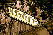 Image of the Bastille Metro entrance in Paris, France