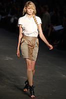 Heidi Mount walks the runway wearing Alexander Wang Spring 2010 collection during Mercedes-Benz Fashion Week in New York, NY on September 11, 2009