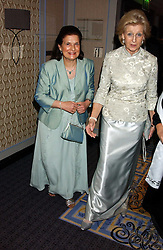 Left to right, PROF.MARGARET HODGSON and HRH PRINCESS ALEXANDRA  at a ball in aid of Cystic Fibrosis Trust held at the London Marriott, Grosvenor Square, London on 28th October 2005.<br />