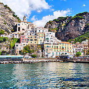 Buildings By Sea At Amalfi