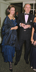 BARON & BARONESS MANDAT DE GRANCEY at a ball in London on 29th September 1997.MBS 19 2OLO