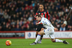 Junior Stanislas of Bournemouth crosses under pressure - Mandatory by-line: Jason Brown/JMP - Mobile 07966 386802 26/12/2015 - SPORT - FOOTBALL - Bournemouth, Vitality Stadium - AFC Bournemouth v Crystal Palace - Barclays Premier League
