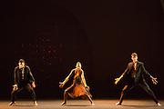"""The openng of """"Harry"""", by the Israeli-American choreographer Barak Marshall. Music for the piece ranged from Tommy Dorsey to Balkan Beat Box."""
